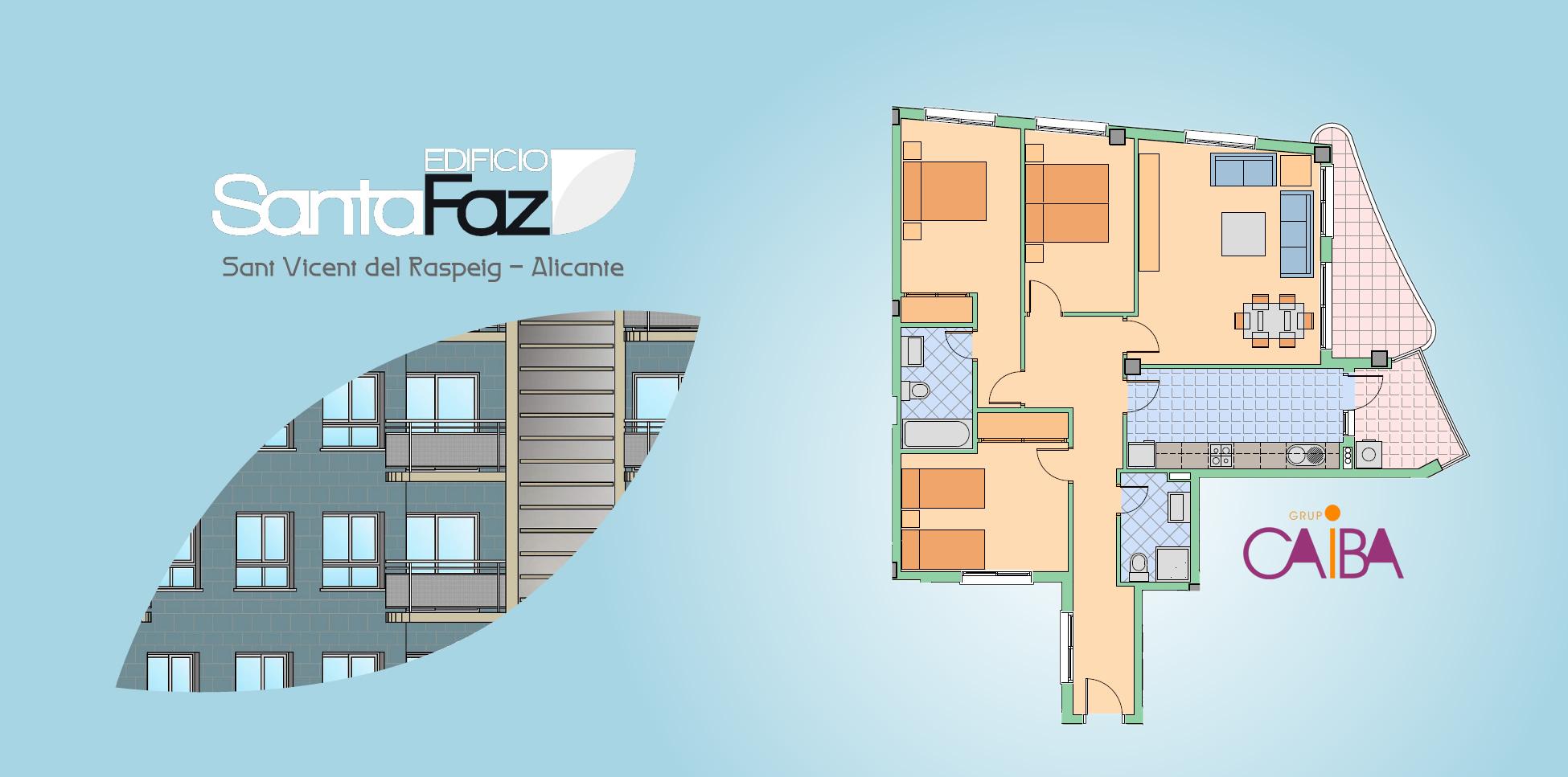 Edificio plurifamiliar de 65 viviendas de obra nueva con garajes y trasteros en San Vicente del Raspeig